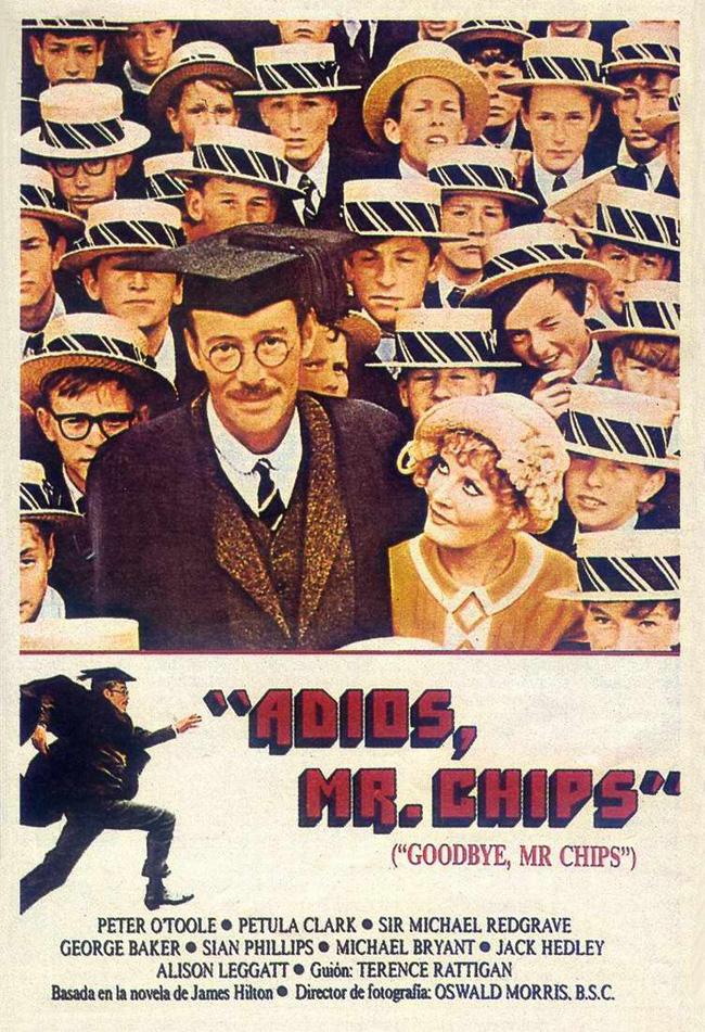 goodbye mr chips Título original: goodbye, mr chips sinopsis: mediados del siglo xix a la escuela de brookfield, llega el joven profesor mister chips,.